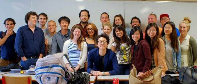 International students in Nantes,France