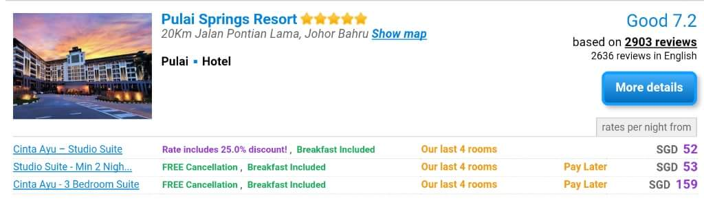 Agoda Hotel Comparison Website