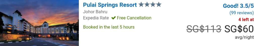 Expedia Singapore Pulai Springs Resort
