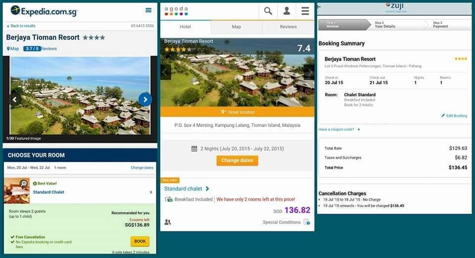 Berjaya Tioman Resort Price Comparison